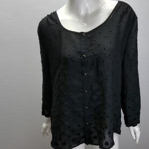 Embroidered Lands End blouse